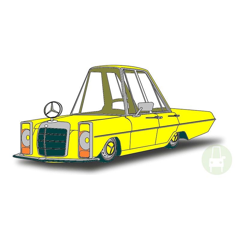 coming next - my car yellow w115 w114 230e mercedes
